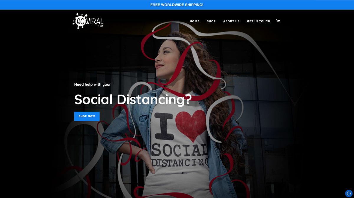 Web Design - Go Viral Tees